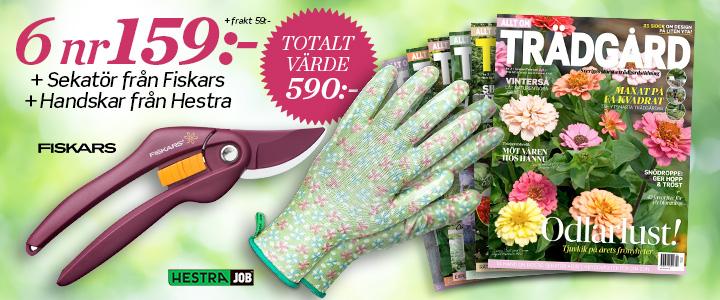 Allt om Trädgård - sekatör Merlot från Fiskars + handskar från Hestra